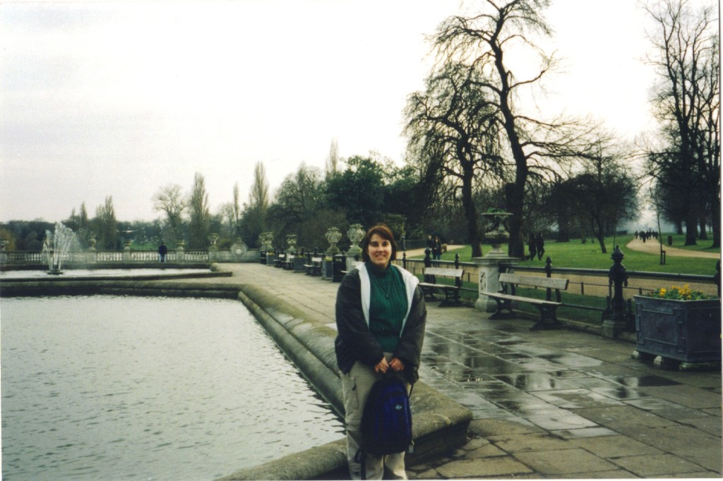Me in front of the Italian Fountains in Hyde Park