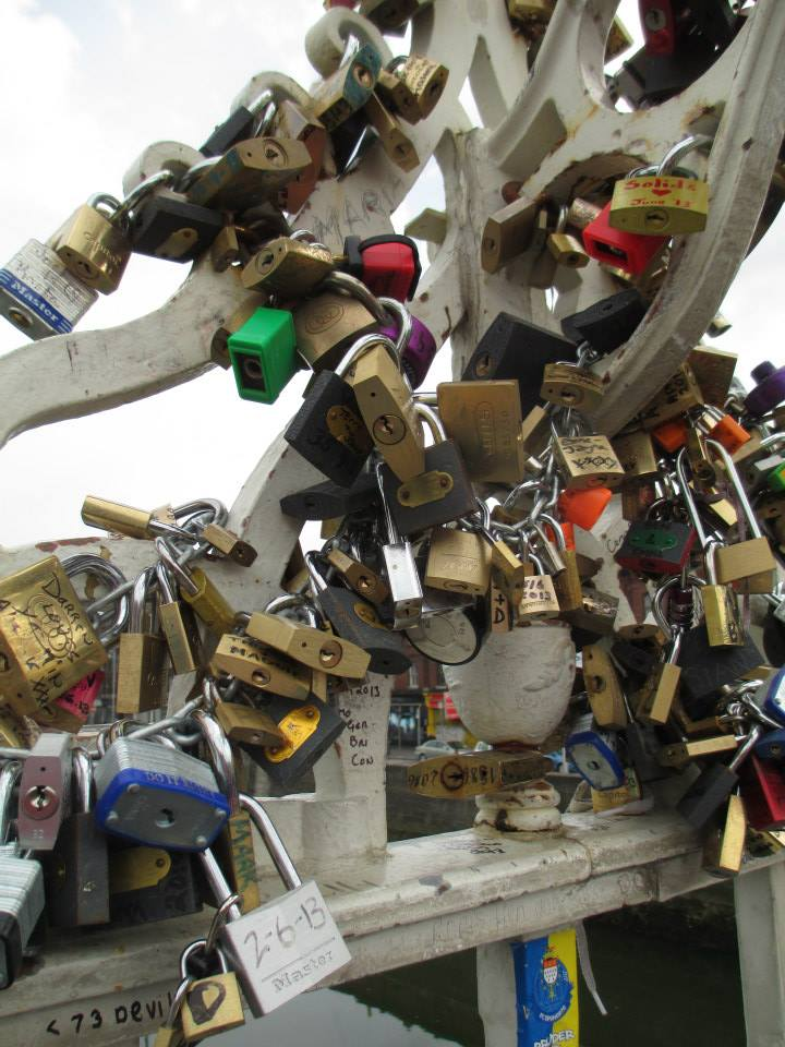 Wow! Look at all these padlocks