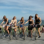 A beachside bike tour in Barcelona