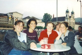 Carrie, Jo, Sondra and Me on My Birthday, Lucerne Switzerland
