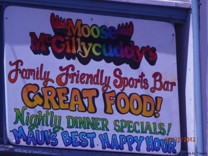 Moose McGillycuddy's in Lahaina