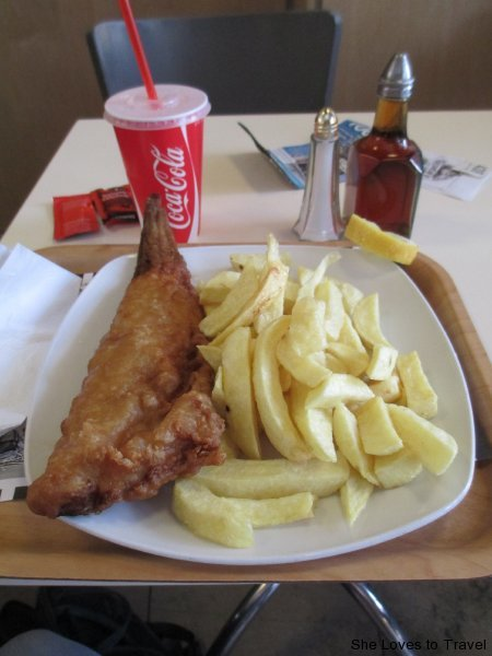 Fish and Chips at Beshoff Restaurant in Dublin