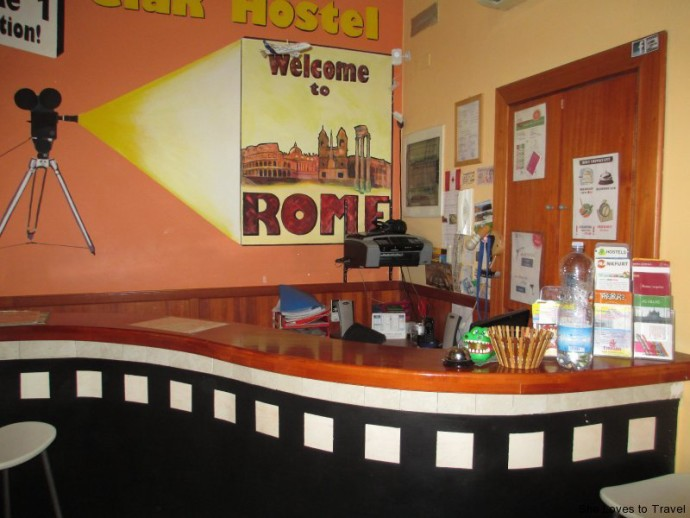 Reception area at Ciak Hostel