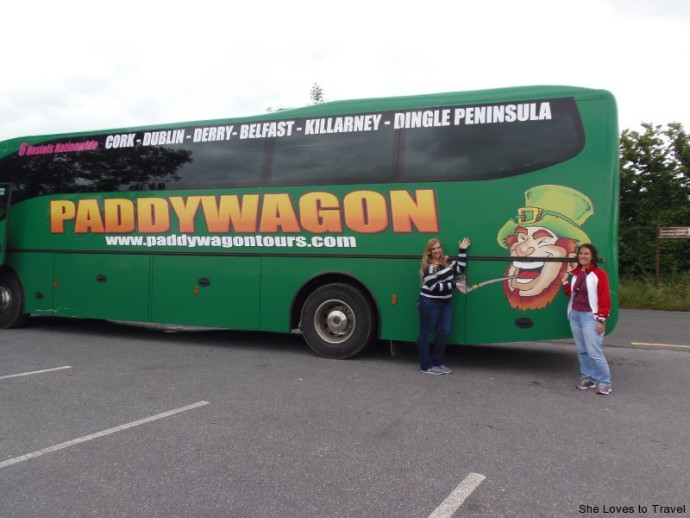 Kristen and Me by the Paddywagon Tour Bus