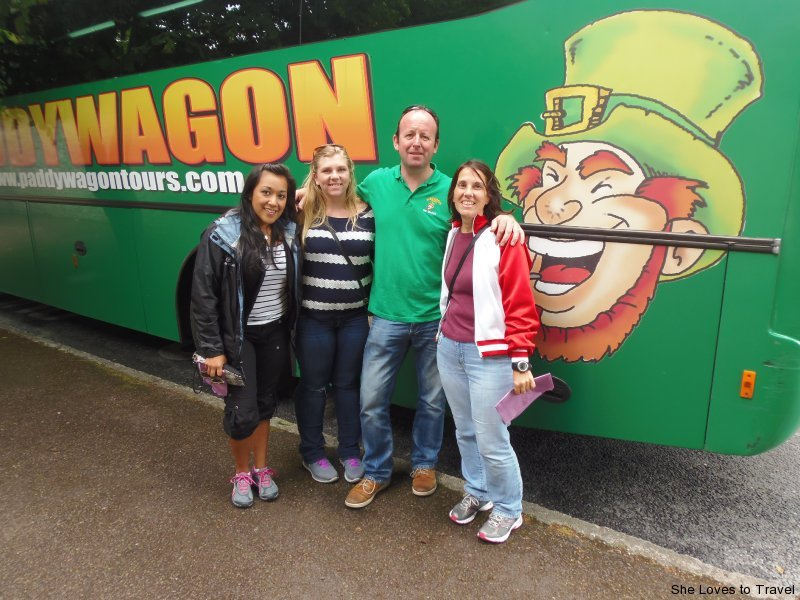 Kressa, Kristen and Me with Don, our tour bus guide, from Paddywagon Tours